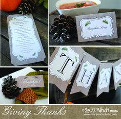 FREE Thankgiving Day Printables from Sour Punch Studio