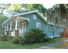 Green Bungalow for $179,000 in Savannah, Georgia.