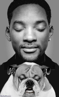 Will Smith and Bulldog.   YEP ----  THEY DO LOOK ALIKE………HOWEVER, I DO BELIEVE THE DOG'S LIP WAS PHOTO-SHOPPED………….ccp