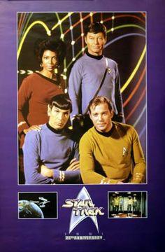 Star Trek 25th Anniversary Cast Portrait 1991 TV Show Poster 24x36 – BananaRoad