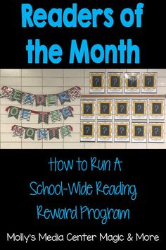 Promote a culture of reading at your school by recognizing your best readers! School Library Displays, Middle School Libraries, Middle School Reading, Elementary Library, School Library Lessons, Reading Contest, Reading Display, Reading Incentives, Library Events