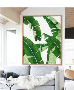 Banana Leaf Print Poster PRINTABLE FILE BG4 palm leaf by Dantell