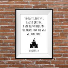 No Matter How Your Heart Is Grieving, If You Keep On Believing, The Dreams That You Wish Will Come True - Cinderella Printable Wall Art - Typographic Digital Print – Disney Quote  Please note, this item is for DIGITAL DOWNLOAD ONLY and there is no physical product that is sent to you. Purchase includes: - 1 high quality (300 dpi) Digital .PDF file A3 size (29.7 x 42 cm / 11.7 x 16.6 inch) - 1 high quality (300 dpi) Digital .JPEG file A4 size (21 x 29.7 cm / 8.3 x 11.7 inch)  How to ...