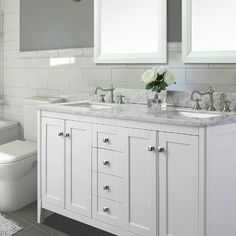 """Found it at Wayfair - Shelton 60"""" Double Bath Vanity Set - Sliding pull out door in cabinets"""
