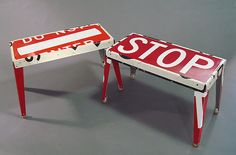 Rest Stop Bench. Created by Boris Bally. Metal Bench - Artful Home. http://www.artfulhome.com/product/Metal-Bench/Rest-Stop-Bench/74919