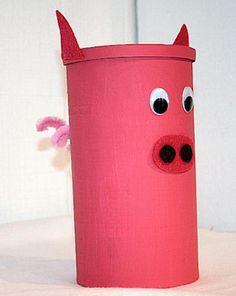 Piggy bank craft on pinterest piggy banks homemade for Make a piggy bank craft