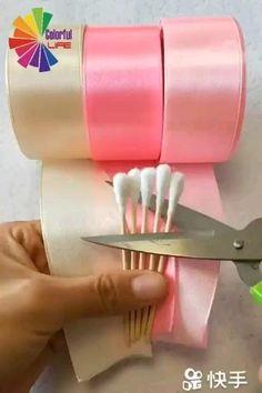 Diy Crafts For Home Decor, Diy Crafts Hacks, Diy Crafts For Gifts, Paper Flowers Craft, Diy Flowers, Paper Crafts, Zipper Flowers, Flower Diy, Diy Paper