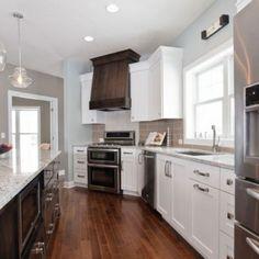 Good Builder: Mega Homes,www.mega Homes.com   Product(s) Shown: Andino White  Granite, Florida Tile Streamline Fawn 3 | MN Tile Kitchens | Pinterest |  White ...
