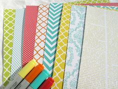 Free printable patterned papers from Mel Stampz