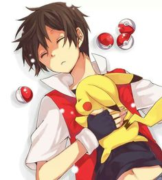 #PokeMon trainer Red & Pikachu