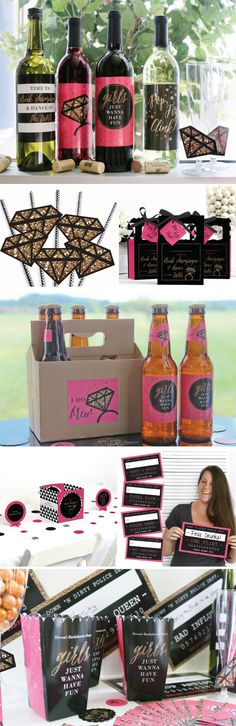 Bachelorette Party Ideas for a Girls Night Out from BigDotOfHappiness.com