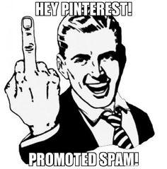 Hey Pinterest! Promoted spam! - 1950s Middle Finger meme