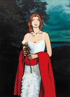 Julian Opie, Maria Teresa with Red Shawl