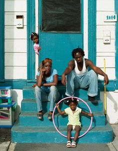 "Portraits by Chris Usher ~ Tara Legendre, Charles Franklin, J'mya, Tajah and Tara. Hurricane Katrina: Survivors and Heroes. From the book ""One of Us.""  http://content.time.com/time/photogallery/0,29307,1649351_1421241,00.html"