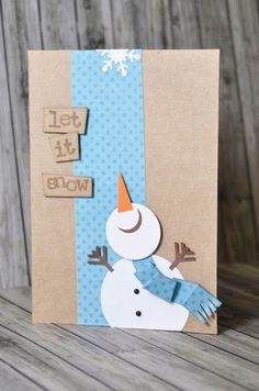 Crafting ideas from Sizzix UK: Do you want to build a snowman? Crafting ideas from Sizzix UK: Do you want to build a snowman? Christmas Card Crafts, Christmas Art, Handmade Christmas, Holiday Cards, Cute Cards, Diy Cards, Snowman Cards, Theme Noel, Winter Cards