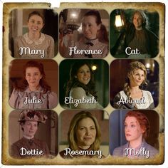 Women of Coal Valley. This is nice! I don't always remember their names. :) Which isn't usual for me... (wink) ;) #WhenCallsTheHeart #Hearties
