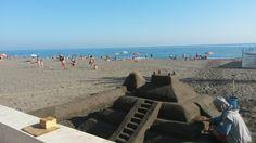 Playa Ferrara en Torrox Costa, Andalucía