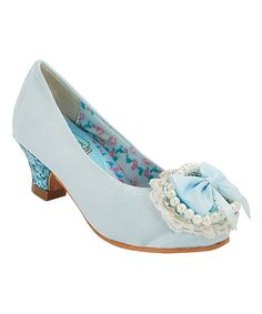 Another great find on #zulily! China Doll Light Blue Catuona Dress Shoe by China Doll #zulilyfinds