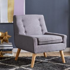 Mercury Row Reese Tufted Fabric Retro Side Chair & Reviews | Wayfair