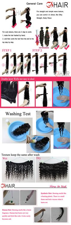 Virgin GS hair washing Test brazilian virgin remy human hair