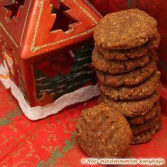 Nóri mindenmentes konyhája: Mézeskalács ízű, mindenmentes keksz Lactose Free, Gluten Free, Vegan Christmas, Izu, December 2013, Free Food, Food And Drink, Cookies, Baking