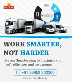 Use our smarter ping to maximize your fleet's efficiency and save money. For more details contact 9952300300