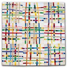 """Gorgeous """"Ribbon Lattice"""" Quilt by Diane Melms."""