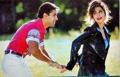 Salman Khan with Urmila Matondkar Bollywood Couples, Bollywood Photos, Bollywood Celebrities, Bollywood Actress, Love Couple, Couple Goals, Salman Khan Photo, Movie Teaser, 90s Outfit