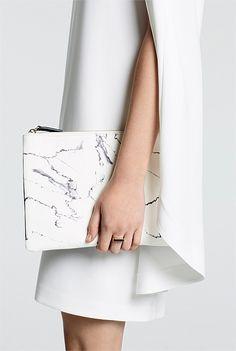 Marble Print Clutch.