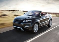 Land Rover unveiled the new Range Rover Evoque Convertible Concept at the 2012 Geneva Motor Show. Said to be the world's first premium convertible SUV it is hoped that it will further cement the fu… Landrover Range Rover, New Range Rover Evoque, Range Rovers, Ranger, My Dream Car, Dream Cars, Dream Big, Convertible, Automobile