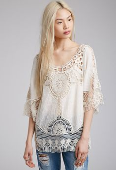 Crocheted Woven Top | Forever 21 - 2000130067