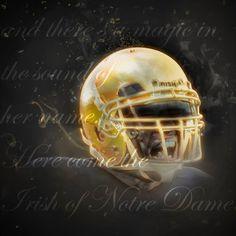 Go Irish, Football Helmets, Notre Dame