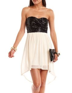 Sequin Chiffon Tube Dress