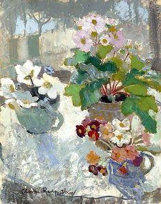 First Flowers ~ Anne Redpath ~  (Scottish 1895-1965)