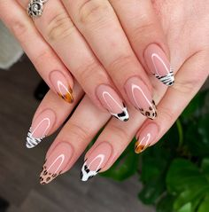 Minimalist Nails, Best Acrylic Nails, Acrylic Nail Designs, Aycrlic Nails, Hair And Nails, Nail Manicure, Cow Nails, Nail Polish, Stylish Nails