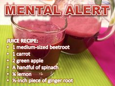 """Beetroot is very potent, so take with caution: Limit to 1 medium-sized beetroot twice a week, no more, especially if you're not used to drinking beetroot juice. This combo not only helps to detoxify the liver, it also helps improve blood circulation, transporting oxygen to the whole body & to the brain. Drink in the AM to stay alert. Drinking it later in the day might cause you to be so alert, preventing sleep. Lemon helps to remove the """"dirt"""" taste & enhance the juice taste. Healthy Juice Recipes, Juicer Recipes, Healthy Detox, Healthy Juices, Healthy Smoothies, Healthy Drinks, Easy Detox, Detox Recipes, Detox Tips"""