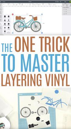 The One Trick to Master Layering Vinyl – Makers Gonna Learn – Diy Poject Ideas Cricut Air 2, Cricut Help, Cricut Iron On Vinyl, Cricut Explore Projects, Cricut Explore Air, Cricut Project Ideas, Cricut Vinyl Projects, Tips And Tricks, Vinyle Cricut