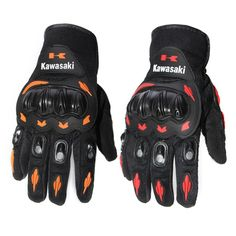 Kawasaki Full Finger Guantes Motorcycle Gloves Red Orange Colors Motorbike Motocross Protective Gears Glove M - XXL Size L   Lazada Malaysia