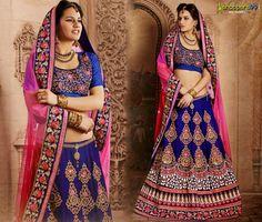Buy beautiful NAVY BLUE PINK #LEHENGACHOLI WITH DUPATTA online at 14% discount price. Shop Now:- http://www.shoppers99.com/designer_lehenga_choli_collection/navy_blue_pink_lehenga_choli_with_dupatta_t-515-996