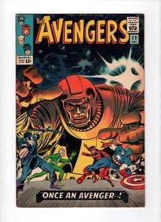 The Avengers -December 1965 Cover Pencils Jack Kirby Inks John Romita Marvel Comics Superheroes, Marvel Comic Books, Comic Books Art, Marvel Villains, Dc Comics, Book Art, Vintage Comic Books, Vintage Comics, Kang The Conqueror
