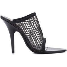 Yeezy Mesh Sandals (SEASON 6) (€555) ❤ liked on Polyvore featuring shoes, sandals, kohl shoes, black mesh shoes, mesh sandals, black sandals and mesh material shoes