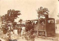 """1905 - """"La maquinilla"""", tranvía de vapor de Ciudad Lineal."""