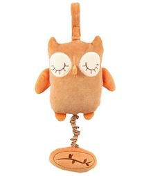 One of my favorites! My 8 month old can pull this now on his own. When he pulls it plays twinkle twinkle for him...so cute! http://www.organictreasure.net/Miyim-Musical-Pull-Brown-Owl-p/28250.htm