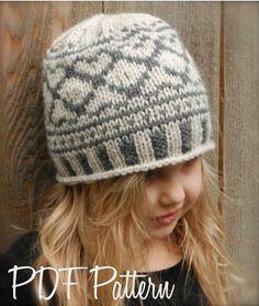 Knitting PATTERN-The Valyn Hat Toddler Child door Thevelvetacorn
