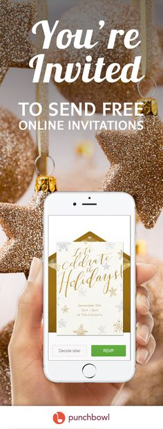 Paper invites are too formal, and emails are too casual. Get it just right with online invitations from Punchbowl. We've got everything you need for your Christmas party.    https://www.punchbowl.com/online-invitations/v/f/christmas?filters=true?utm_source=Pinterest&utm_medium=127.8P