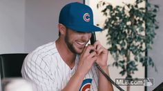 New party member! Tags: laughing laugh phone haha kris cubs chicago cubs bryant cracking up kris bryant on the phone good joke Bryant Baseball, Chicago Cubs Baseball, Baseball Boys, Baseball Players, Espn Baseball, My Mets, Cub Sport, Baseball Injuries, Baseball Memes