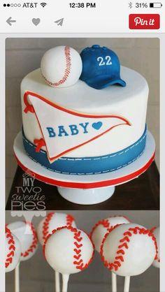 Little slugger cake and cake pops