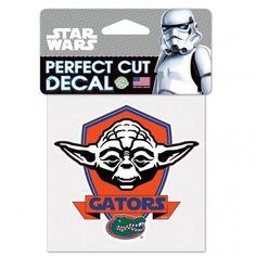 NCAA Florida Gators Official  4 inch x 4 inch Star Wars Yoda Die Cut Car Decal