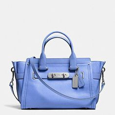 23af8835c88ae COACH Swagger Carryall in Pebble Leather Handbags - All Handbags -  Bloomingdale s