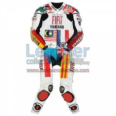 Jorge Lorenzo Yamaha MotoGP 2008 Leathers for $629.30 - https://www.leathercollection.com/en-we/jorge-lorenzo-2008-leathers.html